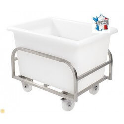 Chariot Inox pour Bac Profond 100 Litres