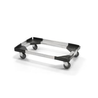 Socle Rouleur pour Box Isotherme Powerbox, Handtop et PLUS en Aluminium/ABS