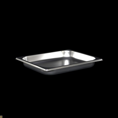 Bac Gastronorme Inox GN1/2 Plein H. 40 mm