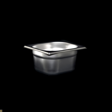 Bac Gastronorme Inox GN1/6 Plein H. 100 mm